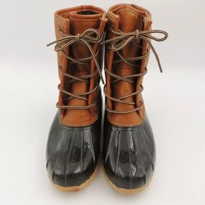 New Original Sporto Duck Rain Tan Brown Boot 9